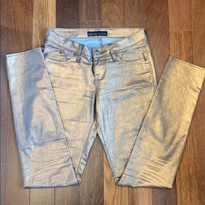 Rock and Republic metallic coated skinny jeans